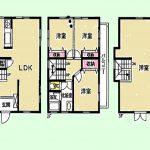 中古住宅 3LDK オール電化の3階建住宅です。小学校も近くで安心です。